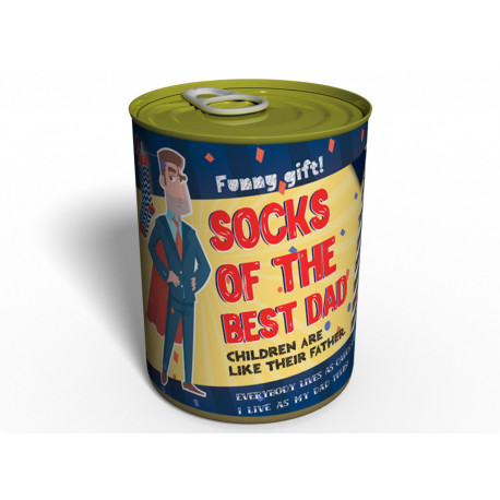 Canned Socks Of The Best Dad - Gift For Father - Gift Father`s Day