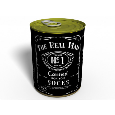 Canned Socks The Real Man - Gift for Man - Gift Idea For Man